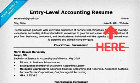 How to out linkedin on resume