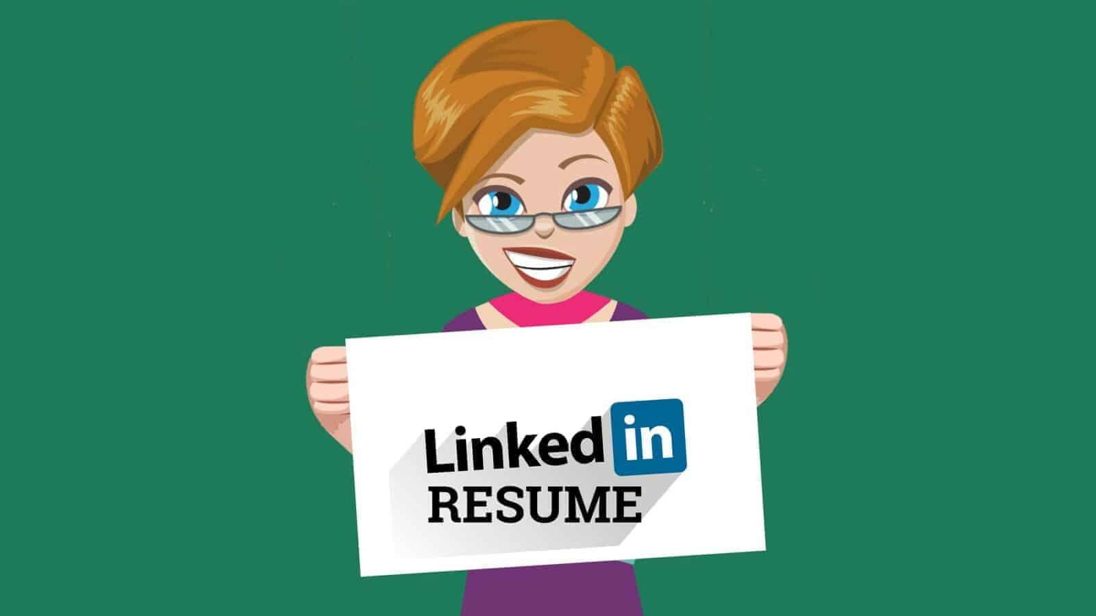 how to put linkedin on resume