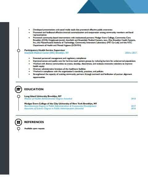 Human rources resume template