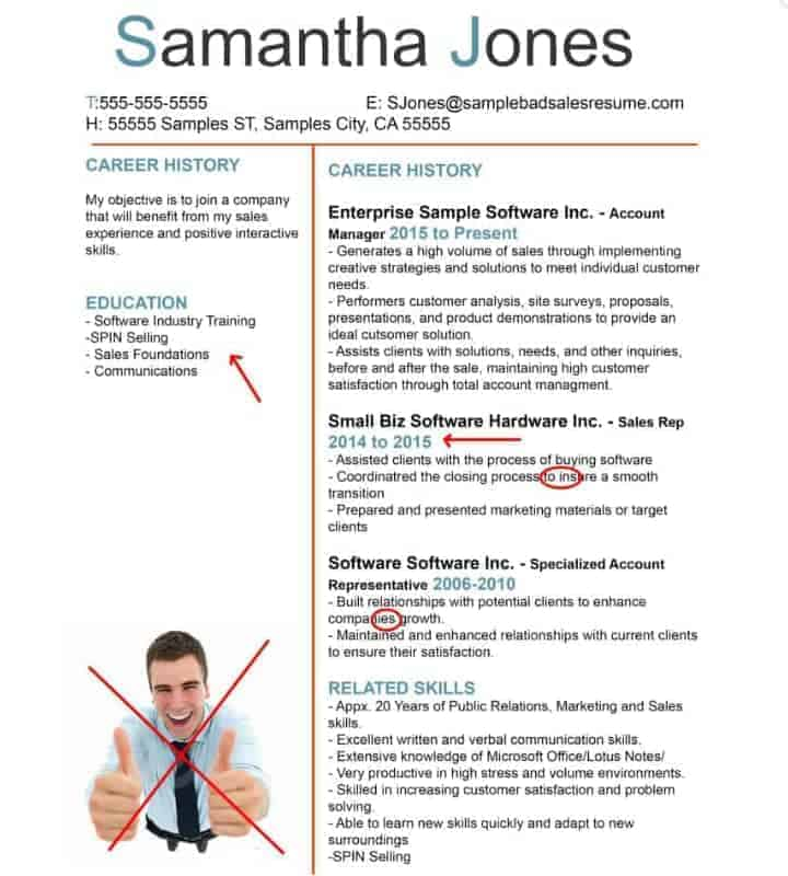 bad resume example 6