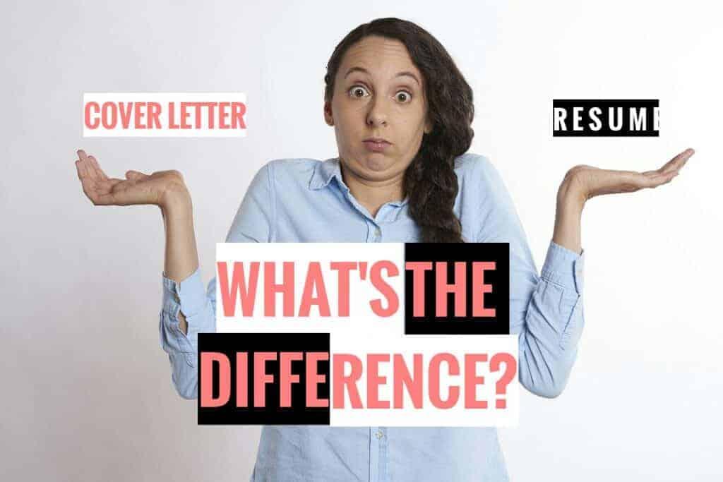 Cover letter vs. resume
