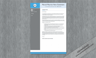 CEO Michael cover letter sample